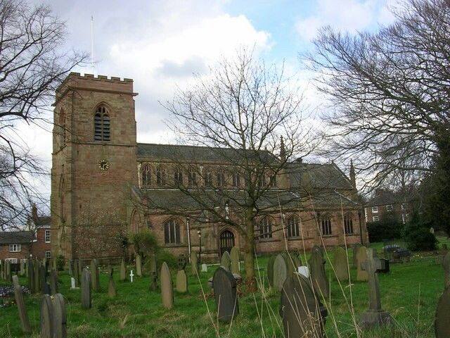 Manchester's grade ll listed buildings, Church of St Wilfrid, Northenden.