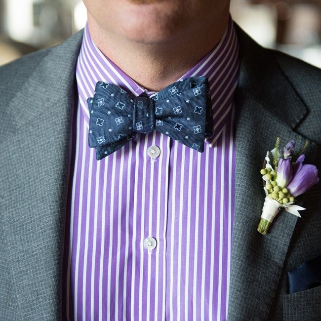 Purple groomsmen attire // Robert Norman Photography // http://www.theknot.com/weddings/album/a-vintage-vineyard-wedding-in-stonington-ct-133895