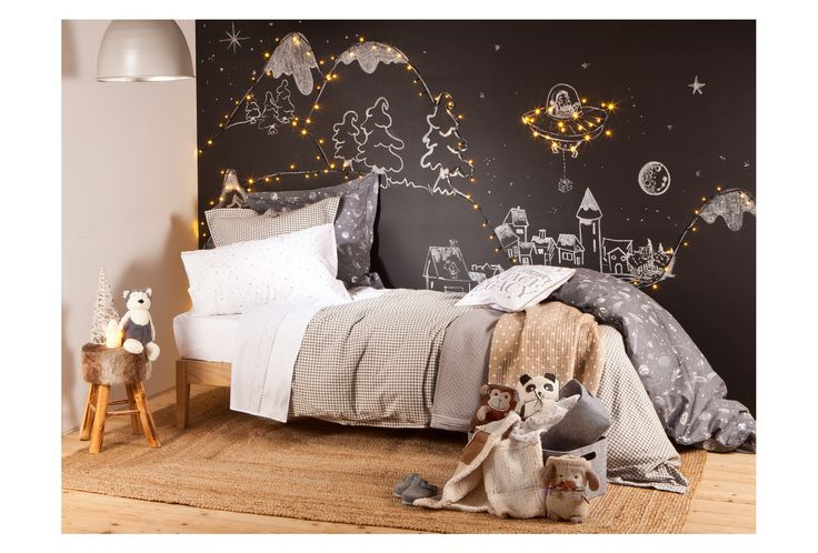 "ZARA HOME KIDS, ""Chalk/Blackboard Christmas from Outer Space"", pinned by Ton van der Veer"