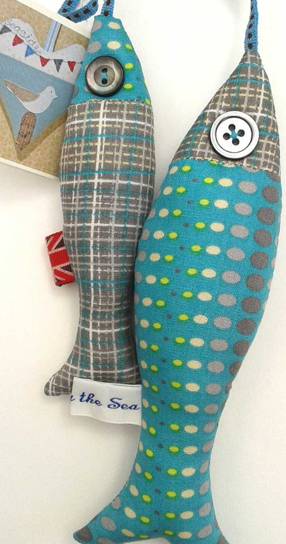 Freshly Caught Fabric Mackerel by TheBobbinBird on Etsy, £15.50