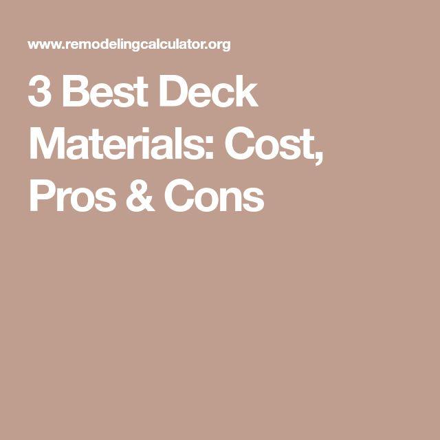 3 Best Deck Materials: Cost, Pros & Cons