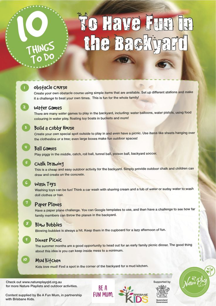 10 Things To Do To Have Fun In The Backyard.  Nature Play QLD's Nature Playlist.