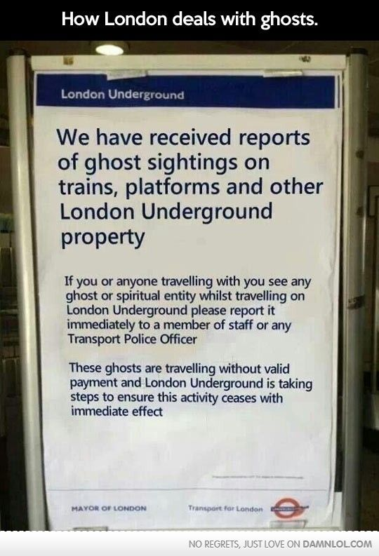 You don't get this level of humour anywhere other than the greatest city on earth :)