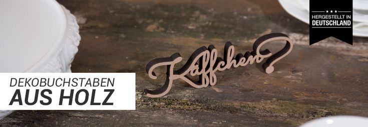 Holzschriftzüge von KLEINLAUT
