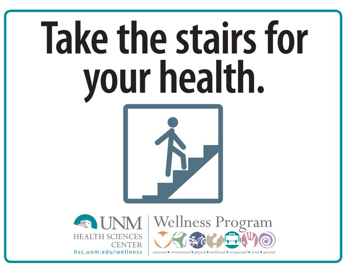 Wellness Take The Stairs Flyer