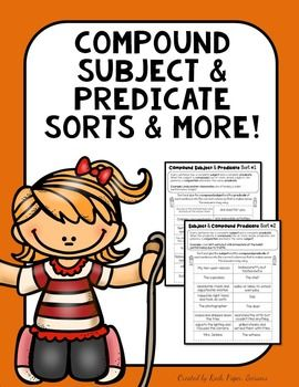 Compound Subjects & Compound Predicates Great for test prep, review…