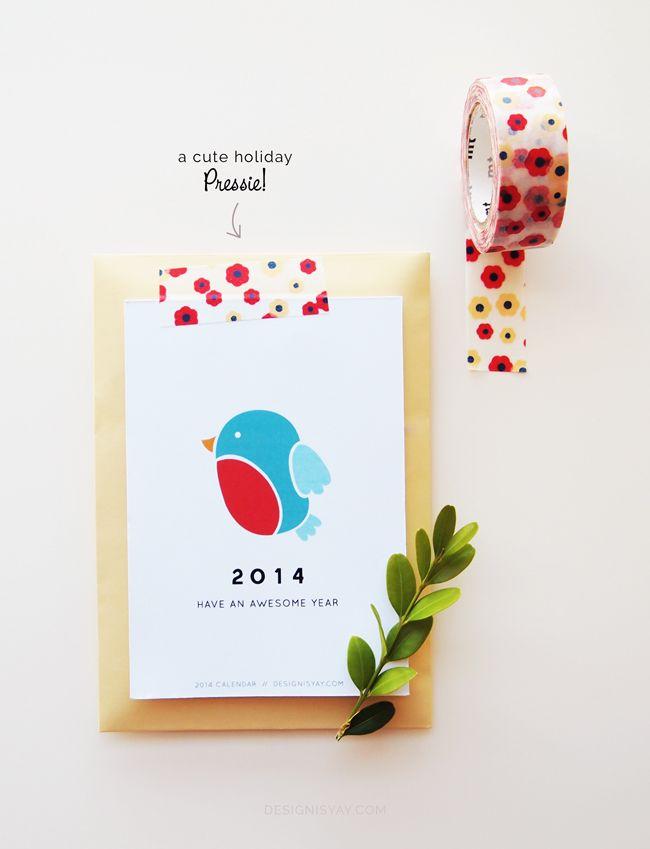"""Year of Colour"" Printable Calendar 2014 | DESIGN IS YAY!"