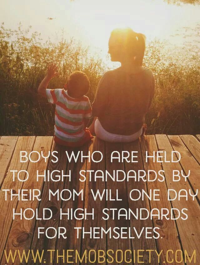 Raising my son to be a gentleman. Thanks mommy