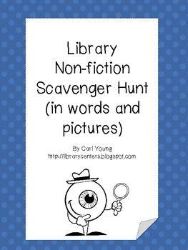 Non-Fiction Library Scavenger Hunt Cards - Library Centers - TeachersPayTeachers.com