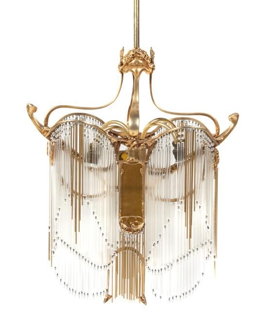 103 best hector guimard images on pinterest hector guimard art a french art nouveau gilt bronze and glass rod chandelier after a model by hector aloadofball Image collections