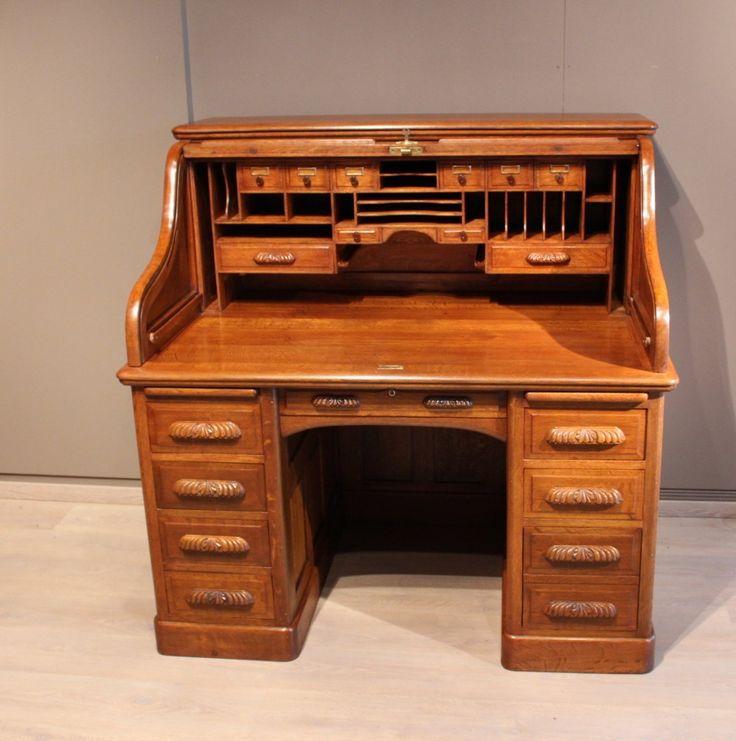 bureau am ricain en ch ne poque 1900 geek sci pinterest bureau secr taire et antiquaire. Black Bedroom Furniture Sets. Home Design Ideas