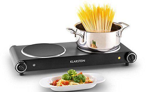 Klarstein Captain Cook² plaques de cuisson à induction (taille compacte, puissance 2400W, chauffe rapide, temperature réglable 60 – 240°C,…