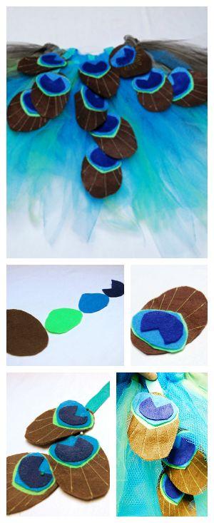 Prueba a hacer este precioso y sencillo disfraz de pavo real para niños.  Te explicamos cómo hacerlo paso a paso. ¡Serán los reyes del Carnaval!