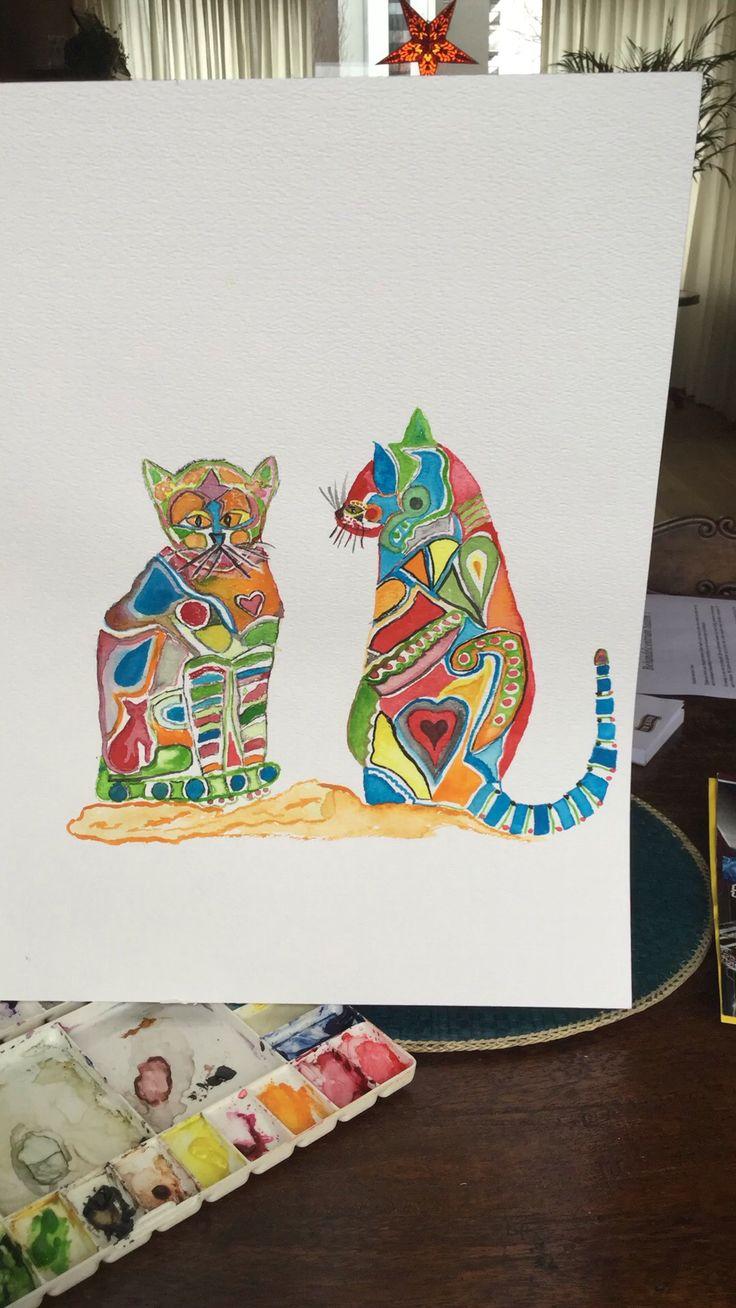 Katten in kleur