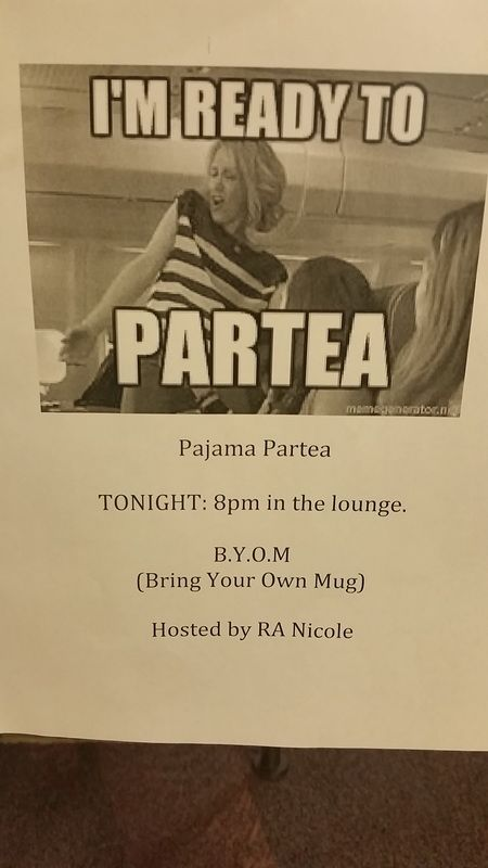 "College RA - Health and Wellness program -  Tea Party ""Partea"" …"