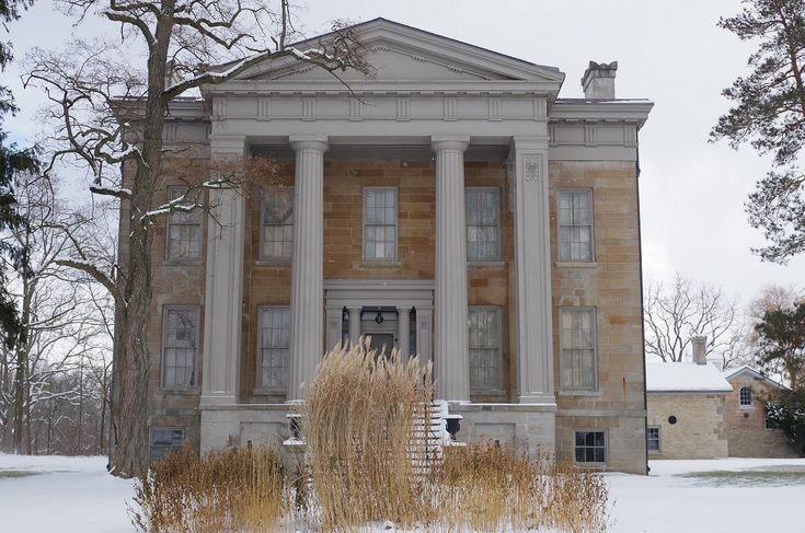The first significant snowfall of the 2017-2018 winter season at Ruthven Park blanketed the Mansion with a dusting of snow.