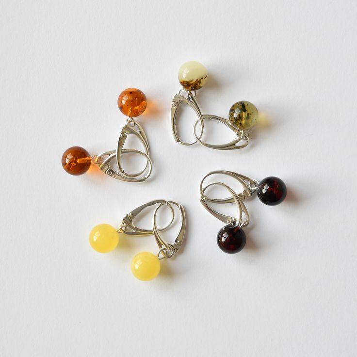 DESCRIPTION: Merry dance of colorful amber balls. Choose earrings for your taste and mood. You can also choose them a company of a bracelet or beads.