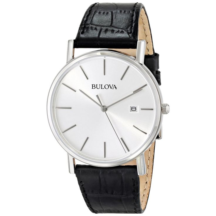 Bulova Men's 96B104 Black Strap Date Watch