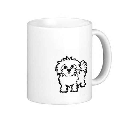 Maltese Dog Mug cup gift http://www.zazzle.co.uk/maltese_dog_mugs-168725932914278996