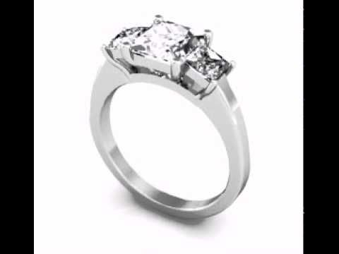 Best DDER Flush Stone Princess Diamond Engagement Ring Custom Princes Stone Princess