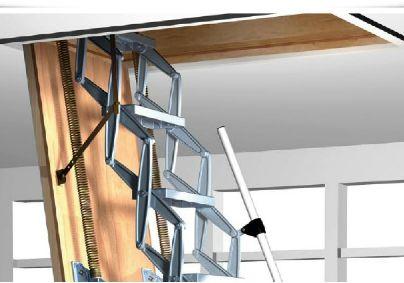 Motorlu Makaslı Çatı Merdiveni