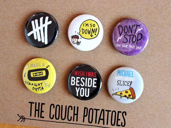Six Pack of Buttons   25 Things Every 5 Seconds Of Summer Fan Needs Before Going Back To School