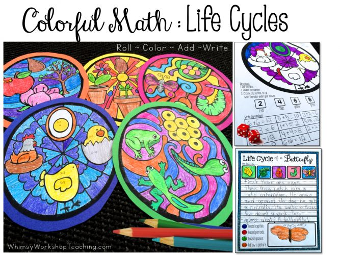 Coloring activities that integrate math, writing, art and science for a stunning and educational bulletin display.