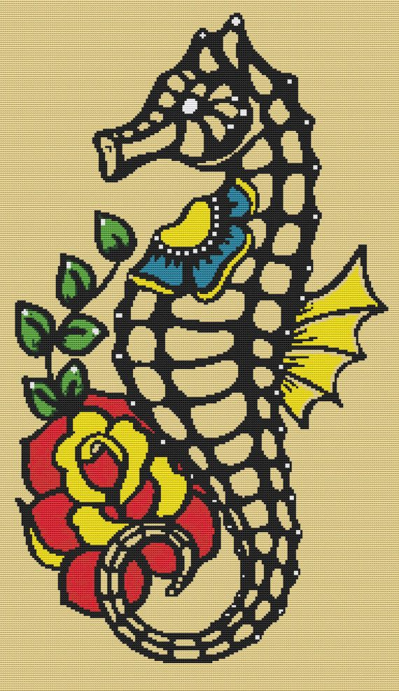 Cross Stitch Kit By Illustrated Ink Skeleton by GeckoRouge
