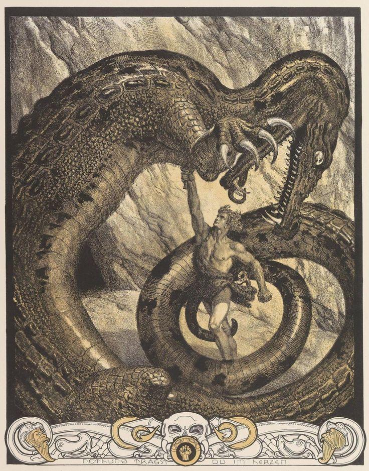 """natureunveiled: """" Franz Stassen Illustration for Der Ring Des Nibelungen c.1913 """""""