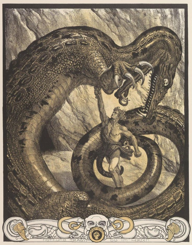 "natureunveiled: "" Franz Stassen Illustration for Der Ring Des Nibelungen c.1913 """