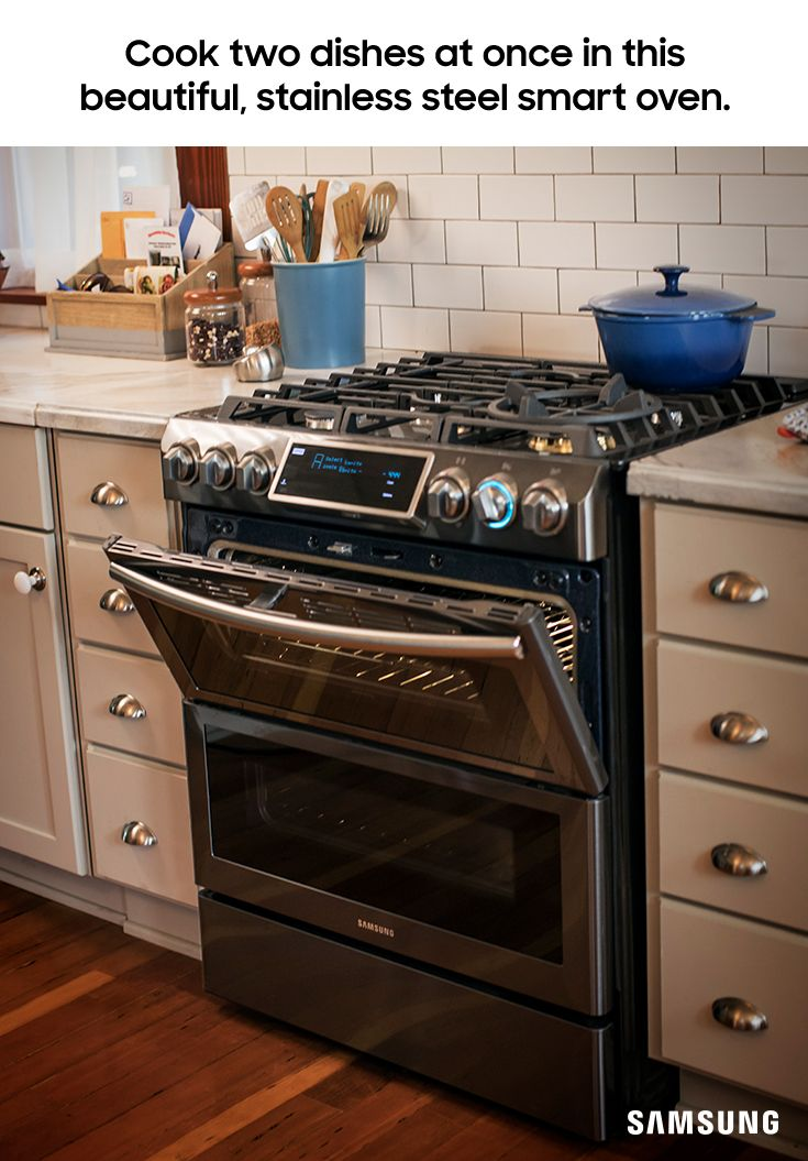 Two is better than one - especially with the Flex Duo range. It can heat two separate cooking spaces at different temps simultaneously, and each one has its own convection fan to ensure your food gets cooked evenly and all the way through. The two oven doors allow for twice the productivity in the kitchen.