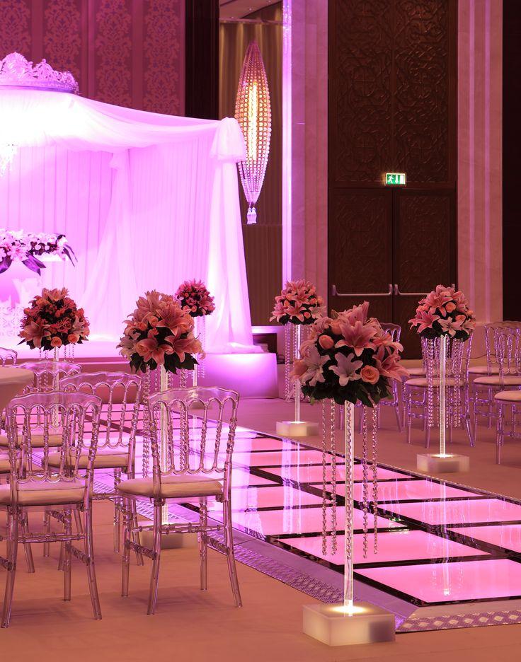 Wedding ceremony aisle at JW Marriott Ankara.