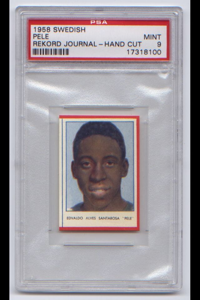 1958 Swedish Rekord Journal Hand Cut Rookie card graded MINT PSA 9 sells @ auction for. $4.250