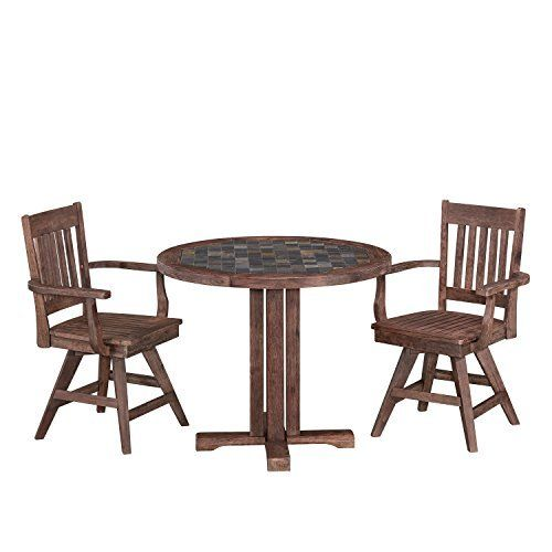 dining room table with swivel chairs. save on home styles 5601-325 round table and two swivel chairs morocco dining set (3 piece) more room with v
