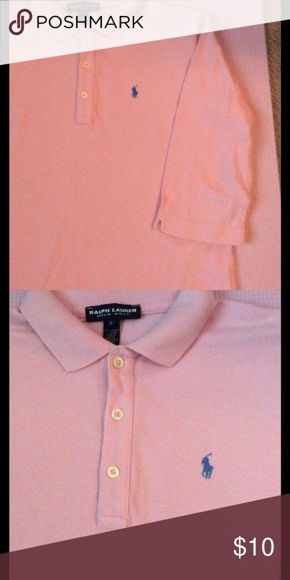 Ralph Lauren Polo Golf Ladies Small pink shirt Blue polo logo, long sleeved Ralph Lauren Tops