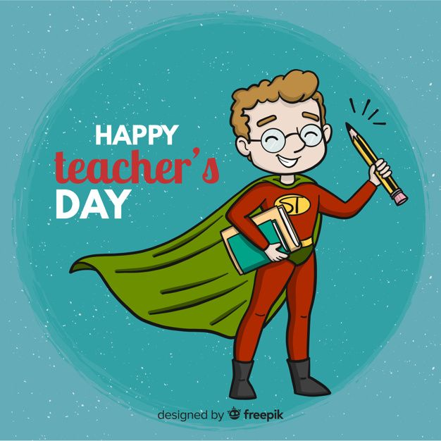 Download Lovely World Teachers Day Composition With Hand Drawn Style For Free Teachers Day Teachers Day Drawing World Teachers