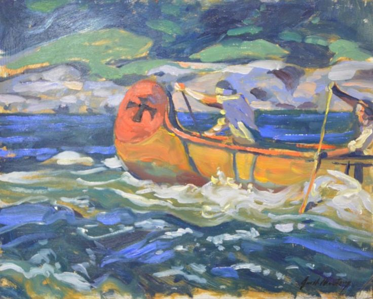 Garth Armstrong - Voyageurs 8 x 10 Oil on canvas