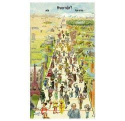 Danmarks fortid illustreret som en vej gennem tiden, befolket med samtidige menneskeafbildninger og flankeret af kulturfrembringelser ude og hjemme. Lige fra de første afbildninger af mennesker indridset på en urokseknogle, Solvognen og den nordiske gud Thor, og frem til