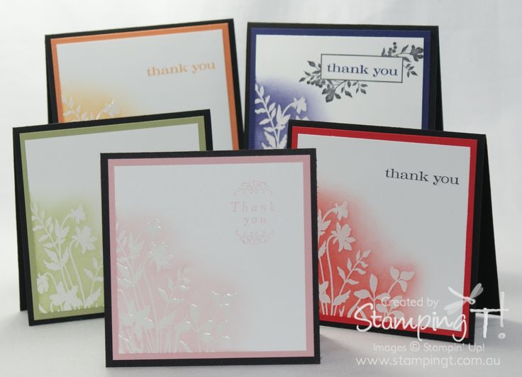 Superb Card Making Ideas Australia Part - 12: 3 X 3 Cards Embossed With Clear Embossing Powder And Then Highlighted With  Ink. Find This Pin And More On Card Making Ideas ...