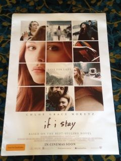 Authentic If I Stay Movie Poster             (2014)    Life changes in an instant for young Mia Hall after a car accident puts her in a coma. During an out-of-body experience, she must decide whether to wake up and live a life far different than she had imagined.  car accident                     | teenager                     | teenage girl                     | musician  Genres:  Drama