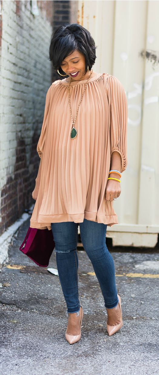 Express Jeans, Pleated Dress, Pleated Top, Indianapolis Style Blog, Fashion Blogger