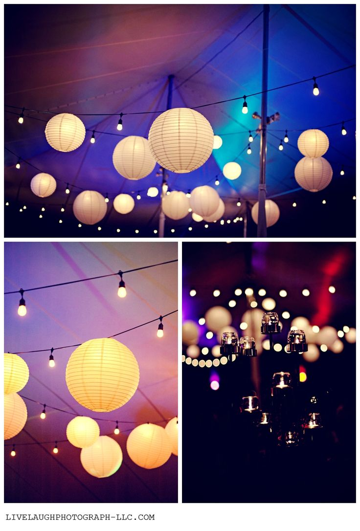 You can hang our paper lanterns directly onto festoon lighting to create a stars in the night sky effect
