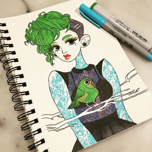 Drawing Woman Tattoo Rock