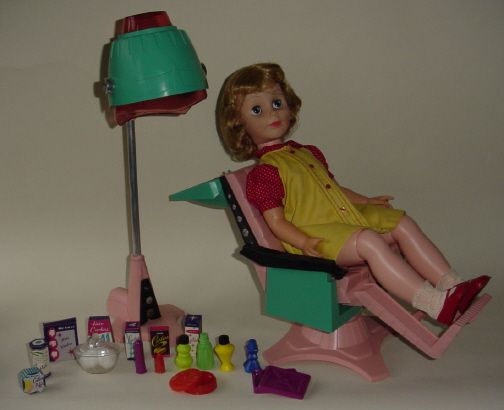 betty beauty parlor doll, got her for christmas one year.: Glamor Dolls, Chair, Childhood Dolls, Girls Dolls, Ahhh Dolls, 1950 S Dolls, Vintage Doll, Dolls Accessories, Dolls Deluxe