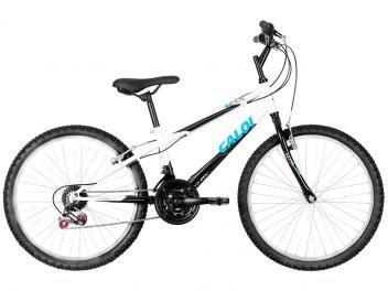 Só hoje por R$ 399,00 em até 8x de R$ 49,88 sem juros no cartão de crédito ou R$ 379,05 à vista (5% Desc. já calculado.) Bicicleta Caloi Max Aro 24 21 Marchas - Freio V-Brake *Após a data da publicação consultar preço atualizado.
