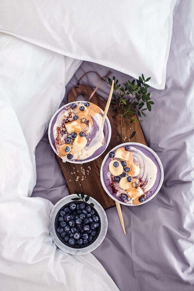 homemade vegan blueberry quinoa yogurt