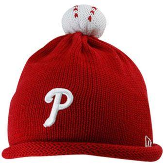 New Era Philadelphia Phillies Infant Red T-Ball Knit Beanie
