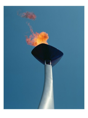 Olympic flame, Barcelona, 1992