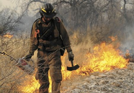 Wildland firefighter.. dont forget the other men that fight protecting you too. they still die every day :(