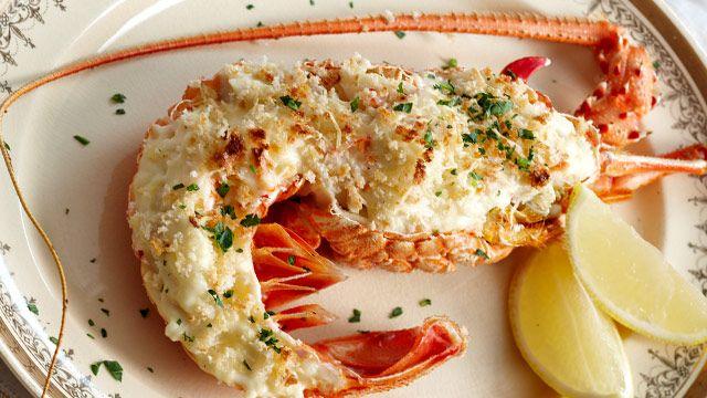 Lobster Mornay. yum!